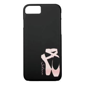 Personalized Soft Gradient Pink Ballet Shoes iPhone 8/7 Case