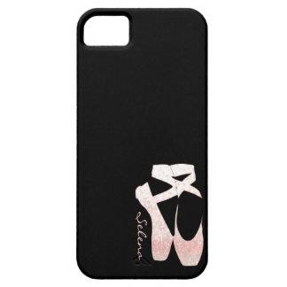 Personalized Soft Gradient Pink Ballet Shoes iPhone SE/5/5s Case
