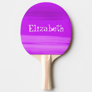 Personalized soft shades of deep purple stripes Ping-Pong paddle