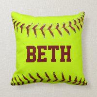 Personalized Softball American MoJo Pillows