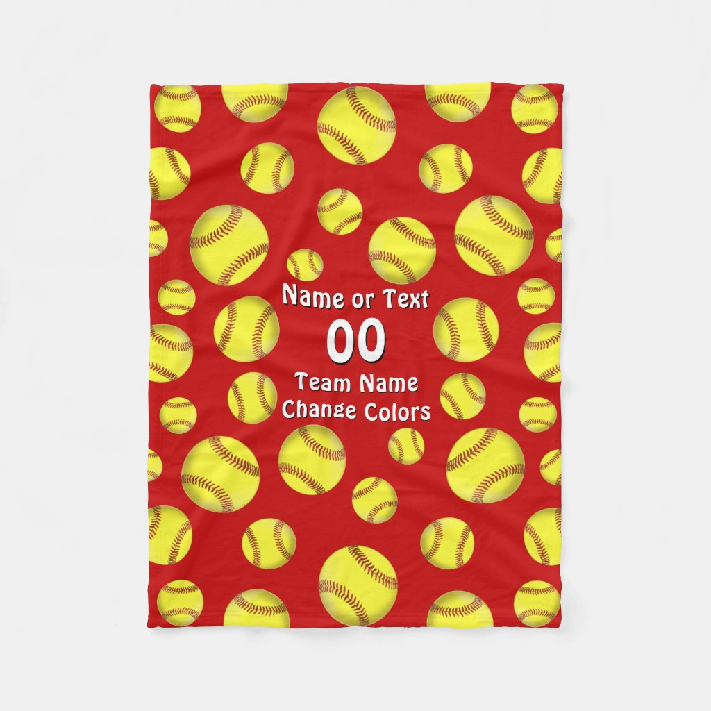 Personalized Softball Blankets Cute Softball Gifts