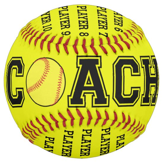 Personalized softball coach ball - 2018 season
