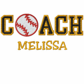 Personalized Softball Coach Embroidered Hoodies
