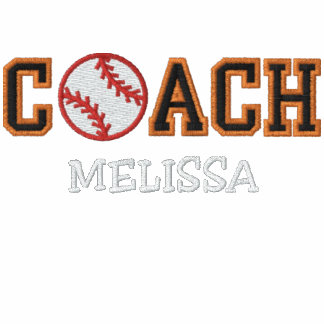 Personalized Softball Coach Embroidered Hooded Sweatshirt