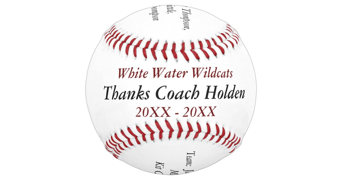 Personalized Street Signs >> Personalized Softball Coach Thank You Gifts | Zazzle.com