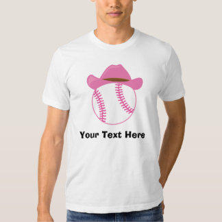 Personalized Softball Cowgirl Tee Shirt
