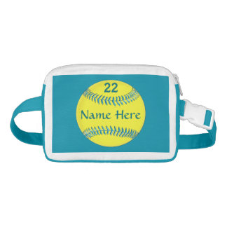 Personalized Softball Fanny Pack, Name and Number Fanny Pack