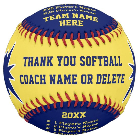 Personalized Softball Gifts for Coaches, Players