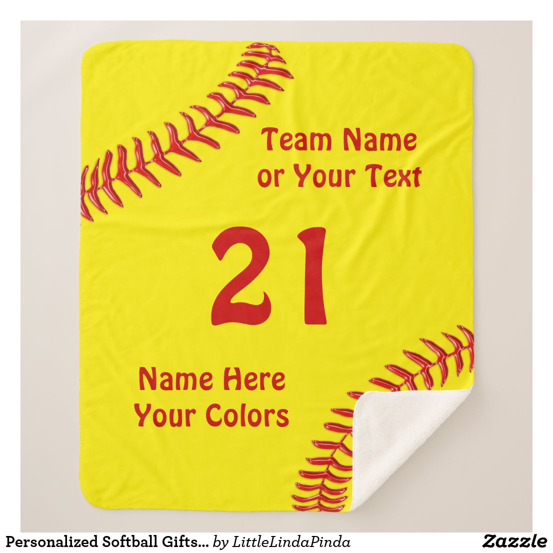 Personalized Softball Gifts for Seniors and Team Sherpa Blanket