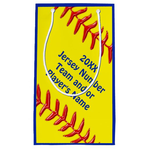 personalized softball goodie bags in 4 sizes small gift