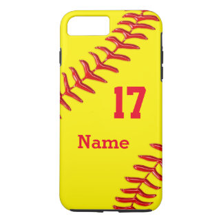 Personalized Softball iPhone 7 Plus Case