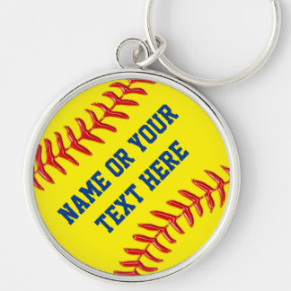 Personalized Softball Keychains in many styles