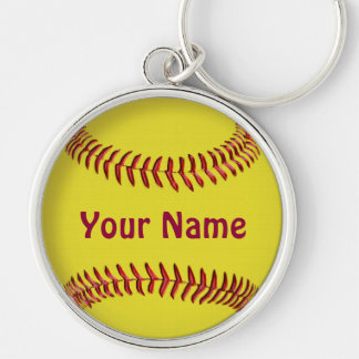 Personalized Softball Keychains with YOUR NAME