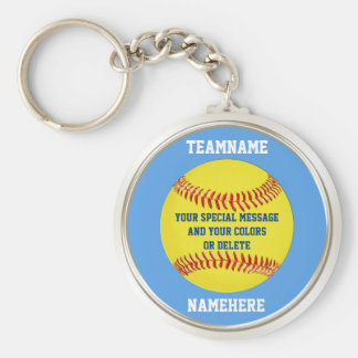Personalized Softball Keychains Your TEXT, COLORS