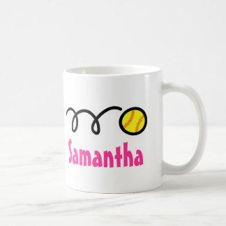 Personalized softball mug with customizable name
