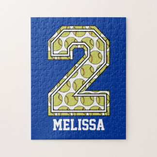 Personalized Softball Number 2 Puzzle