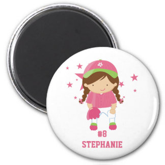 Personalized softball player and stars magnet