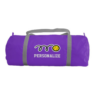 Personalized softball player duffle gym bags