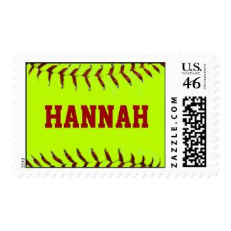 Personalized Softball Postage