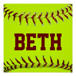 Personalized Softball Poster