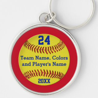 Personalized Softball Senior Gifts and Team Key Chains