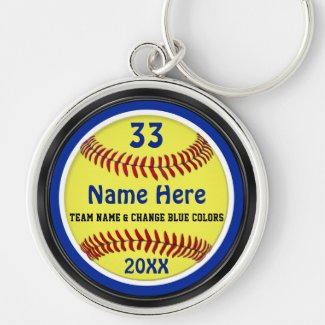 Personalized Softball Senior Night Gifts Keychain