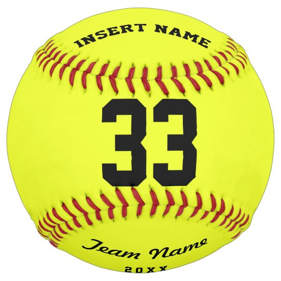 Personalized Softball Team