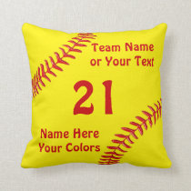 Personalized Softball Team Gifts, Softball Pillows