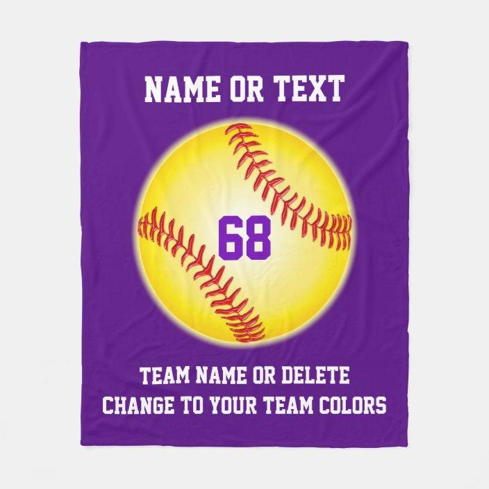 softball blanket Personalized Softball Blanket sports blanket Sports gift