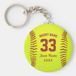 Personalized Softball Team Keychain