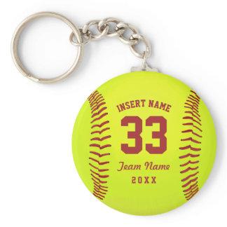 Personalized Softball Team Keychain