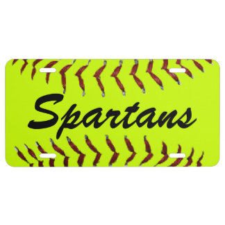 Personalized Softball Team Name License Plate