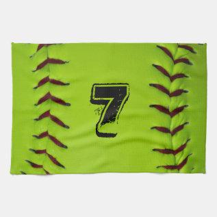 Personalized Softball Towel at Zazzle