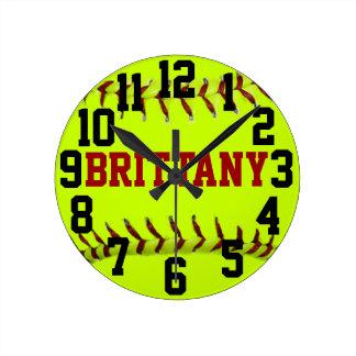 Personalized Softball Wall Clock
