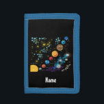 """Personalized Solar System by Learning Candy Trifold Wallet<br><div class=""""desc"""">A perfect personalized gift for a child in your life. Personalize and customize it to your liking. Learn the planets of the Solar System -- Mars, Venus, Earth, Mercury, Jupiter, Saturn, Uranus and Neptune. Your child will learn the names of he planets, as well as their colors and the order...</div>"""