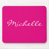 Personalized solid color neon pink mouse pad