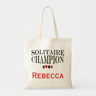 Personalized Solitaire Champion Tote Bag