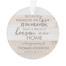 Personalized Someone In Heaven Acrylic Ornament