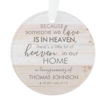Personalized Someone In Heaven Acrylic Ornament