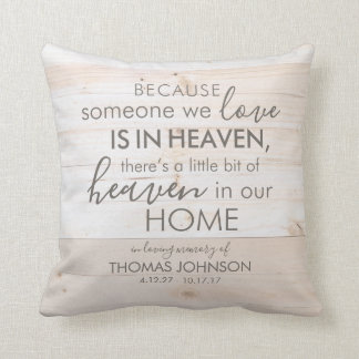 Personalized Someone in Heaven Memorial Pillow