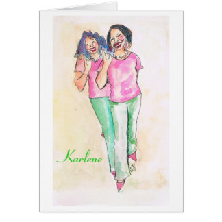 Personalized Sorority note cards