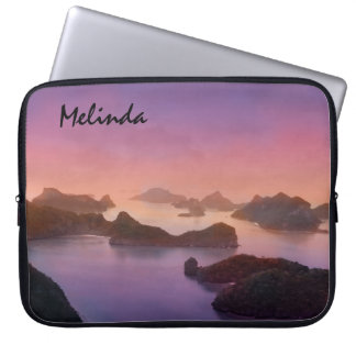 Personalized South Sea Sunset Ocean Laptop Bag