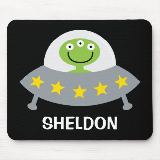 Personalized Space Alien Mousepad for Kids