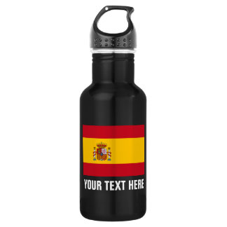 Personalized Spanish flag water bottles for Spain