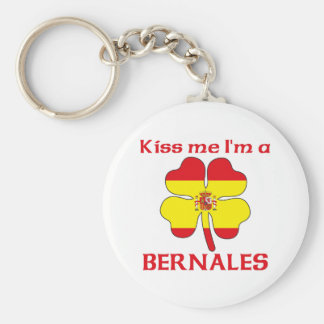 Personalized Spanish Kiss Me I'm Bernales Keychains