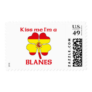 Personalized Spanish Kiss Me I'm Blanes Postage Stamps