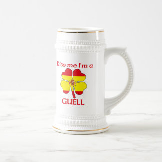 Personalized Spanish Kiss Me I'm Guell 18 Oz Beer Stein