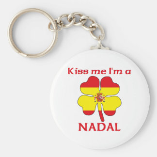Personalized Spanish Kiss Me I'm Nadal Keychain