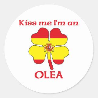 Personalized Spanish Kiss Me I'm Olea Round Sticker