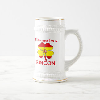 Personalized Spanish Kiss Me I'm Rincon 18 Oz Beer Stein